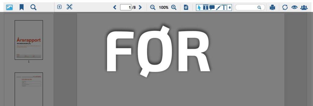Før den nye opdatering af Webvieweren